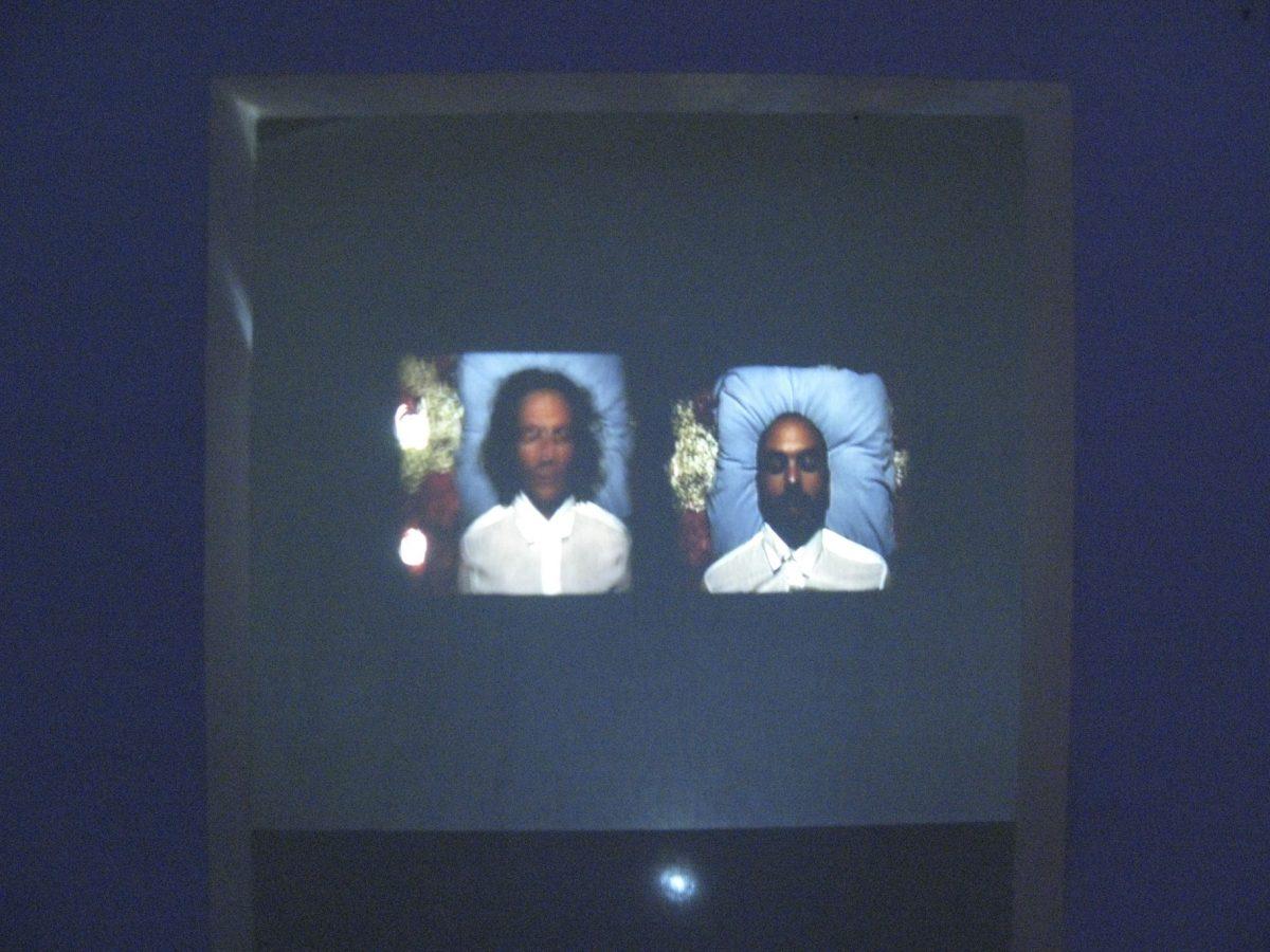 TRANSFIGURATION - Installation : vidéo 12'45'', fleurs, sculptures